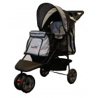 HONDENBUGGY ALL TERRAIN ZWART/ZILV IPS01BS