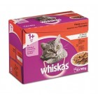 WHISKAS MP VLEES IN GELEI  12X100G