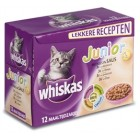 WHISKAS MP JUNIOR VIS/VLEES IN SAUS 12X100GR