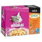 WHISKAS MP SENIOR VLEES/VIS IN SAUS 12X100GR