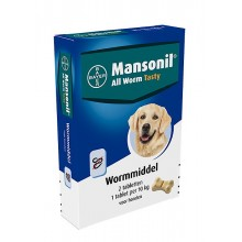 MANSONIL ALL WORM DOG TASTY 2 TABLETTEN